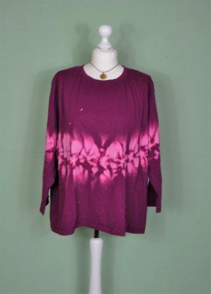 Vintage Hippie Batik Pullover mit Knopfleiste