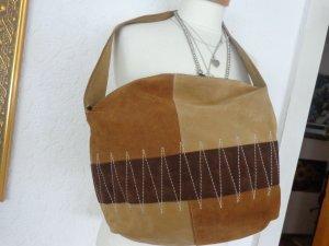 Shoulder Bag beige-brown leather