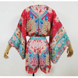 Robe empire rouge fluo-rouge foncé