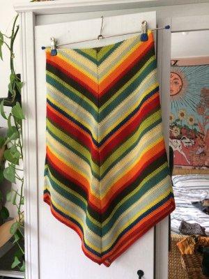 Gonna lavorata a maglia multicolore