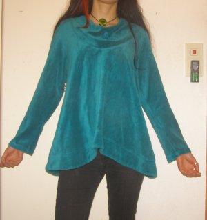 Vintage Hippie Pullover Nicci Samt türkis S