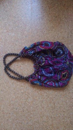 Vintage Hippie-Tasche mit floralen Muster