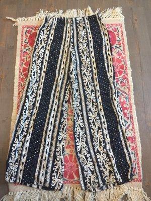7/8 Length Trousers white-dark blue