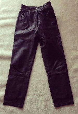 Vintage Hose aus Leder, Echt-Leder, braun, 36