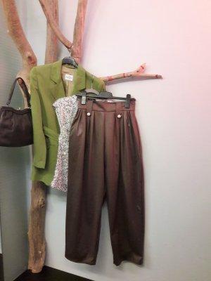 Pantalon taille haute marron clair-cognac