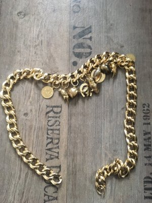 Cintura con catena giallo-oro
