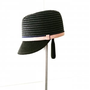 Vintage Chapeau gris anthracite-or rose