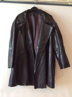 Manteau de pluie brun noir