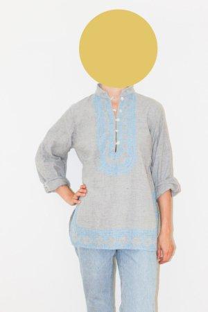 Vintage Indisches Blusen-Oberteil aus Baumwolle