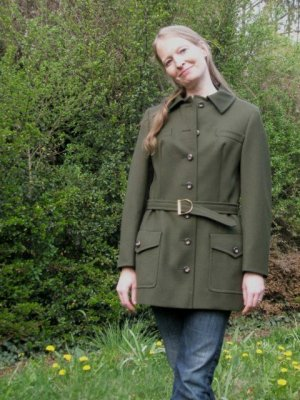 VINTAGE: Jacke aus reiner Wolle, Gr. 36
