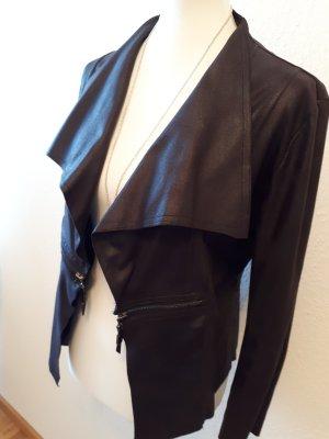 Vintage Jacke Kunstleder aus Paris 38 schwarz