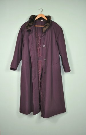 Vintage Jacke / Mantel mit unechten Pelzkragen