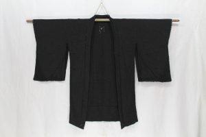 Vintage japanische Haori Robe Mo Muster Farbe schwarz