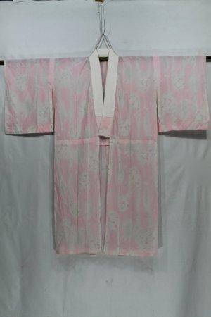 Vintage japanische Juban Robe Blumenmuster rosa Farbe