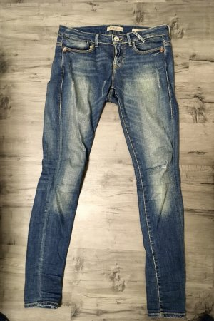 Guess Tube jeans donkerblauw