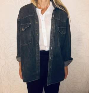 Denim Shirt dark grey-black