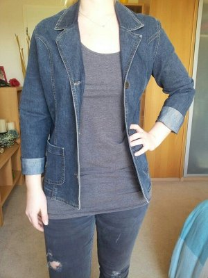 Vintage Jeans jacke oversize dunkelblau Kenny S