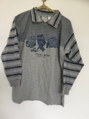 Vintage Jeans Print Pulli