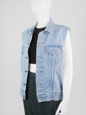 Gilet en jean bleu clair coton