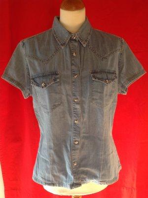 Rocky Jeans blouse azuur Katoen