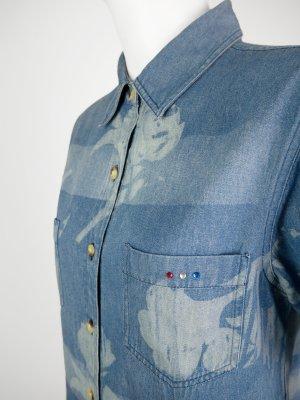 Camisa vaquera azul-azul claro Algodón