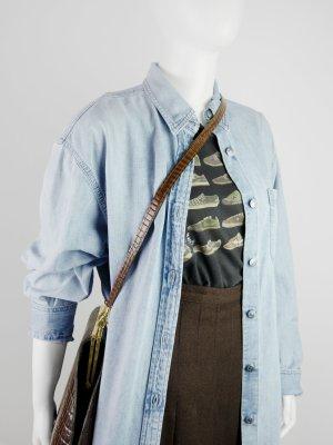 Eddie Bauer Denim Blouse light blue cotton