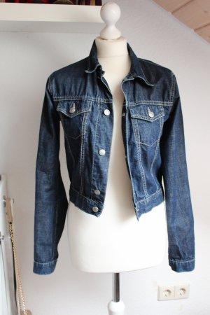 Vintage Jeansjacke 90er C&A Clockhouse guter Zustand Größe S 36 38 blau alt blog