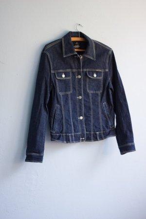 Vintage Jeansjacke dunkelblau 44 Gürtel