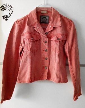 Denim Jacket bright red
