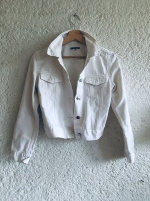 Atos Lombardini Denim Jacket white-natural white cotton