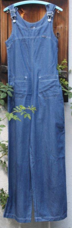 Jumpsuit steel blue cotton