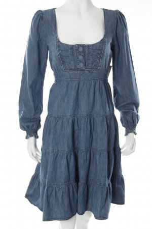 Vintage Jeanskleid stahlblau