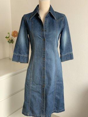 Vintage Jeansmantel mit Dreiviertel Ärmeln
