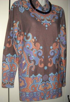 Vintage Jersey Longshirt Rolli Longpulli Shirt Pulli Pullover Kleid 38 40 S H M