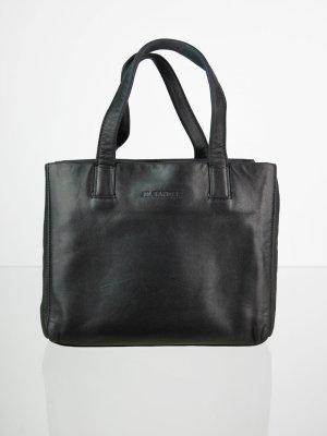 Vintage JIL SANDER Echtleder Handtasche in Schwarz