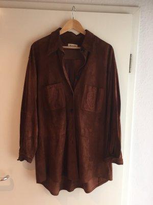 Joop! Camicia in pelle marrone-cognac