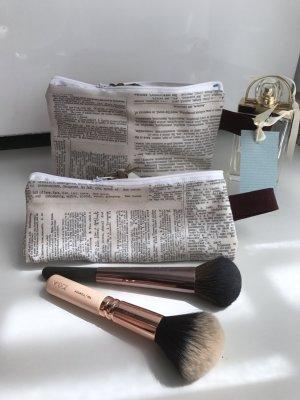 Vintage Journalismus Zeitung Artikel Autor Tasche Set Kosmetik Stifte