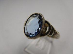 Vintage Jugendstil Edelstein Ring Antik 835 Silber Topas Art Deco echtsilber