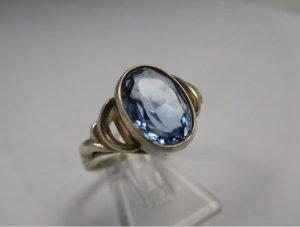 Vintage Jugendstil Edelstein Ring Antik Silber Topas Art Deco 835 Silber