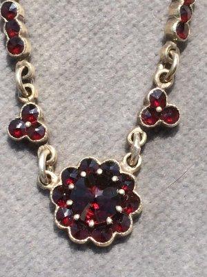 Collier Necklace light grey-bordeaux
