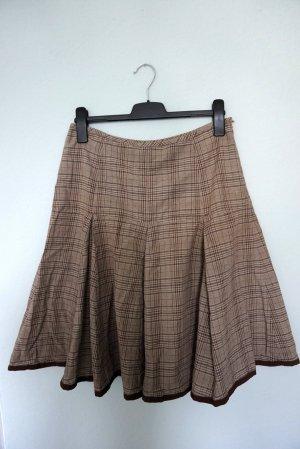 Jupe à plis brun-marron clair coton