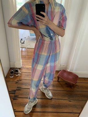 Vintage Karo-Anzug Jumpsuit von Bea Harper M Einteiler kariert aus New York