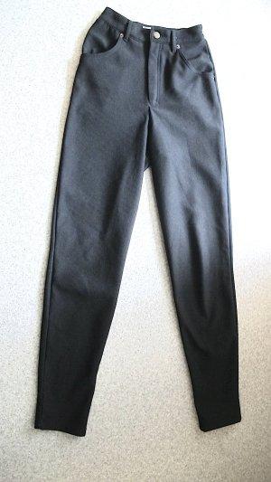 Vintage Pantalon fuselé noir polyester