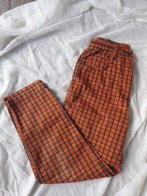 Wortelbroek oranje-donkerblauw