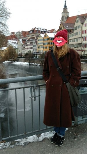 vintage Kaschmir Mantel dunkelbraun