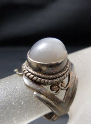 Vintage Silver Ring multicolored real silver