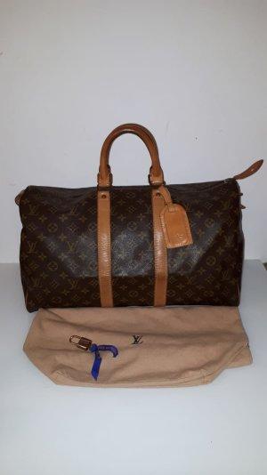 Louis Vuitton Bolso de viaje color bronce-marrón oscuro
