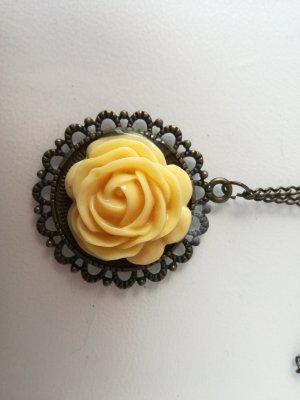 Vintage Kette mit Rose
