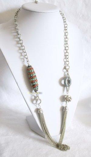Vintage Kette mit türkis Perlen