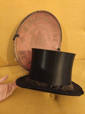 Vintage Cappello a cilindro nero
